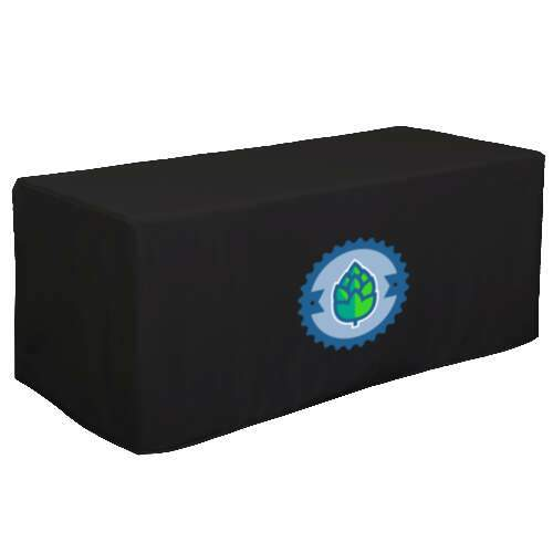 6' decobrite 3 sided nylon table cover
