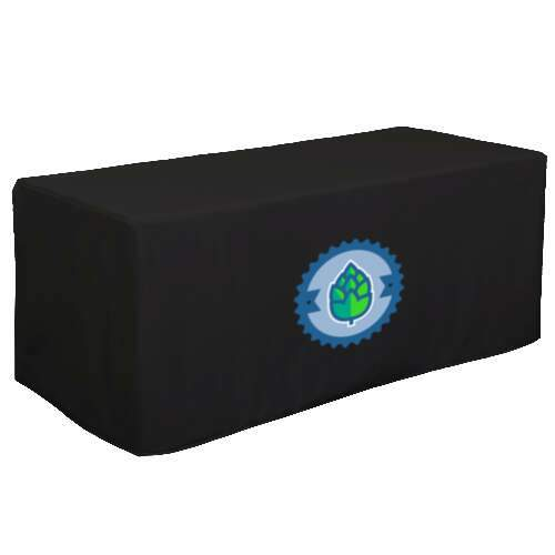 8' decobrite 3 sided nylon table cover