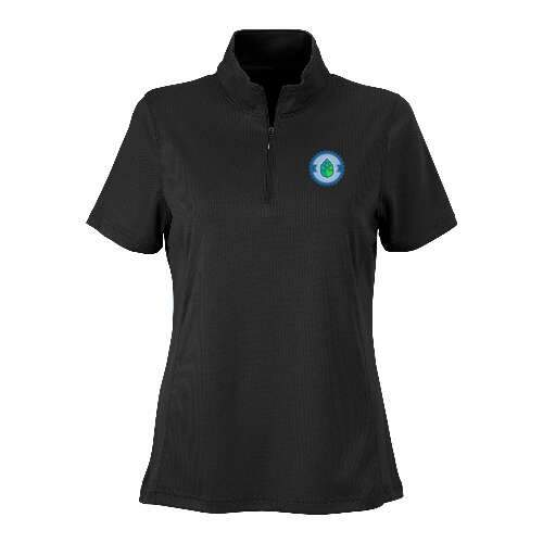 women's vansport™ micro-waffle mesh polo shirt