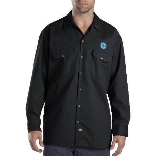 dickies unisex long-sleeve work shirt