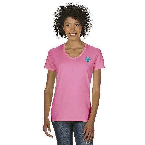 gildan ladies' heavy cotton v-neck t-shirt