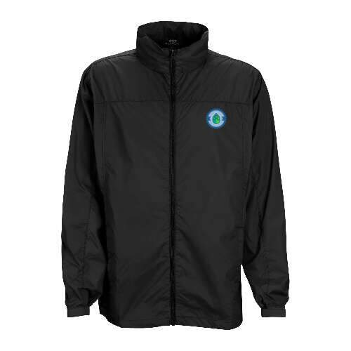 full-zip lightweight hooded jacket