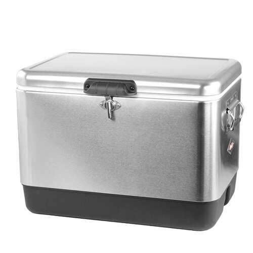 coleman® 54-quart classic steel belted cooler - stainless steel