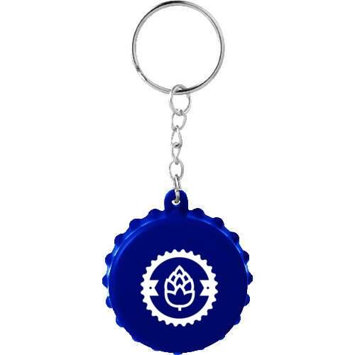 beer cap keychain with bottle opener